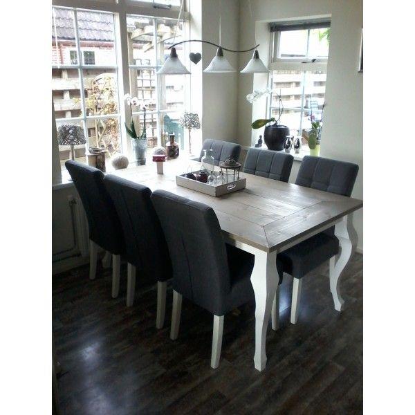 25 beste idee n over landelijke stijl meubelen op pinterest geschilderd bureaumeubel - Tafel een kribbe stijl industriel ...