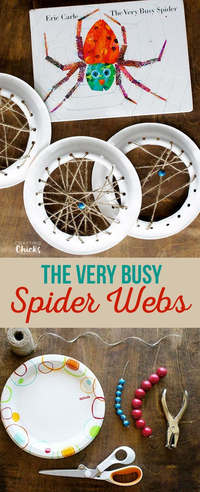 The Very Busy Spider Craft - kids will love creating a web just like the busy spider via @craftingchicks