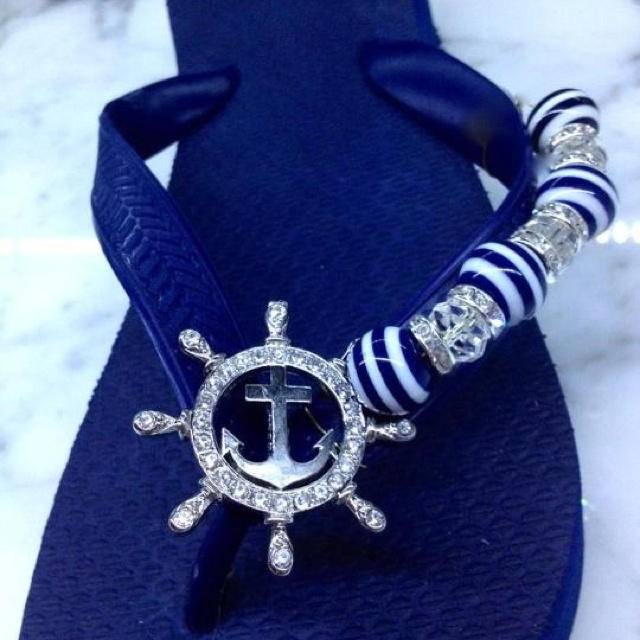 "If you love nautical, you'll probably love these! ""Naughty~Cal"" but Nice! Flipinista, Your BFF™"
