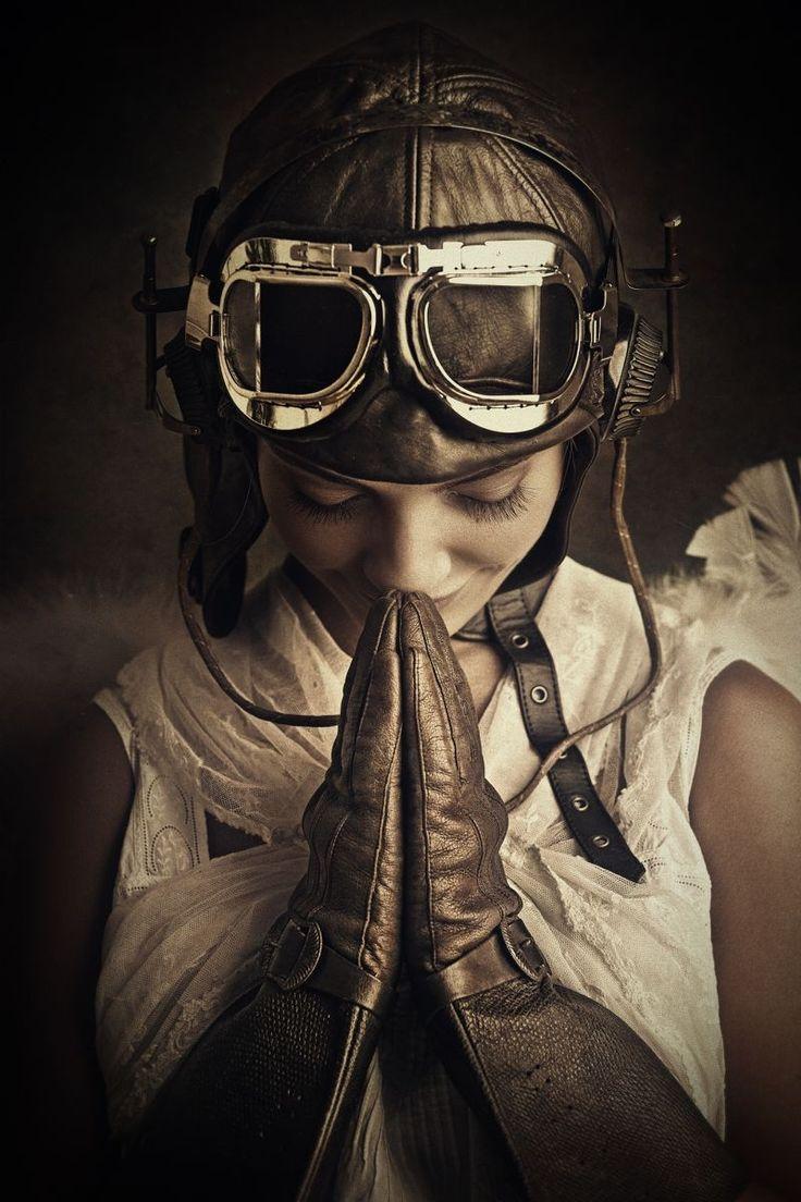 Peter Zelei - Praying Aviatrix Angel