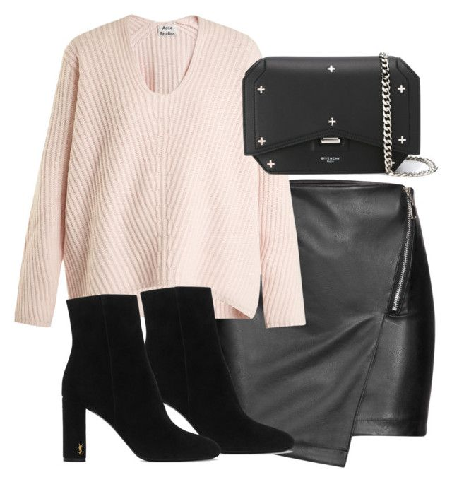 """Untitled #4442"" by theeuropeancloset on Polyvore featuring Acne Studios, Yves Saint Laurent and Givenchy"