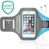 "IPhone 7 / 6S / 6 SPORTS Armband- Fingerprint Touch Supported , Great for Running, Workouts or any Fitness Activity, Unique Hidden Pocket for Stores Cash, Cards and Keys. Fits smartphone 4.5""-5.2"""