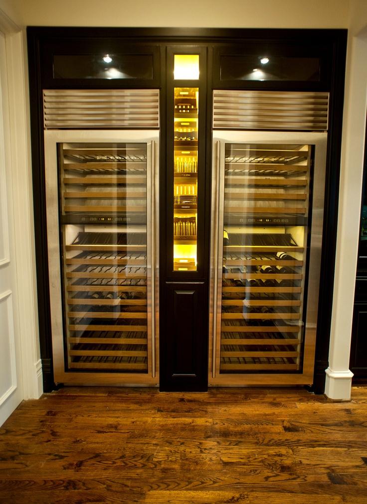 Thermador Wine Columns with custom Cigar Humidor adorned ...