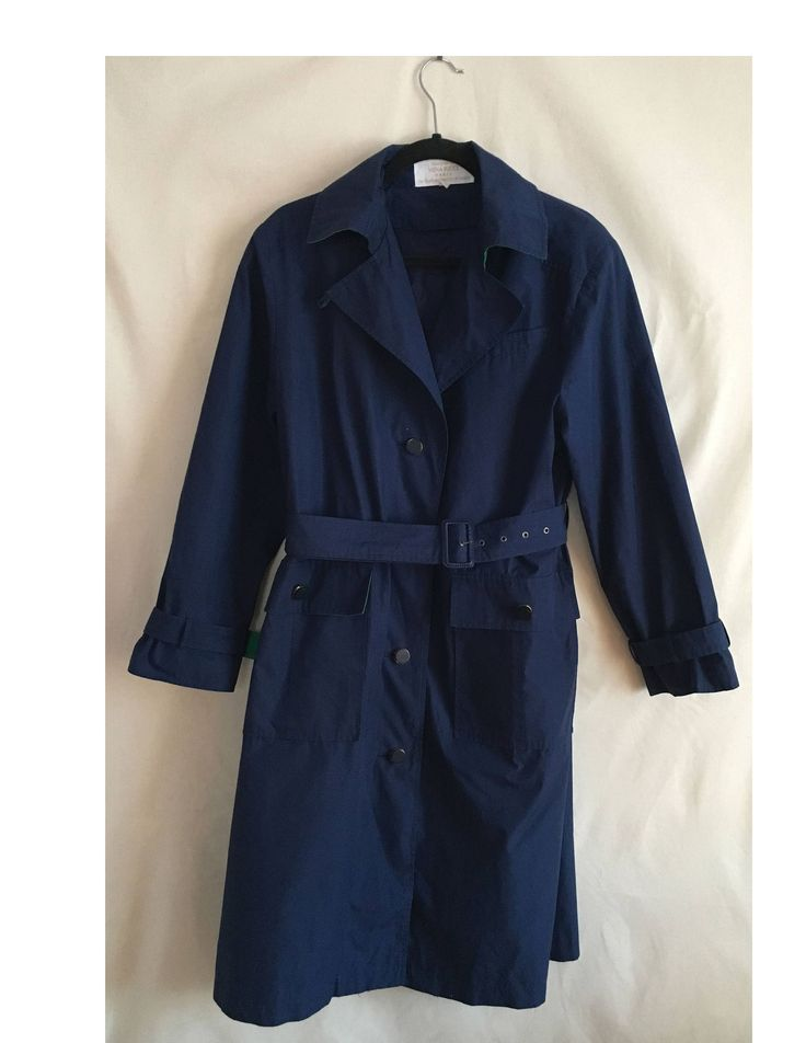 Excited to share the latest addition to my #etsy shop: Nina Ricci 90s classic Trench coat / navy airlines flight attendant coat vintage 90s designer trench coat vintage paris french trench coat