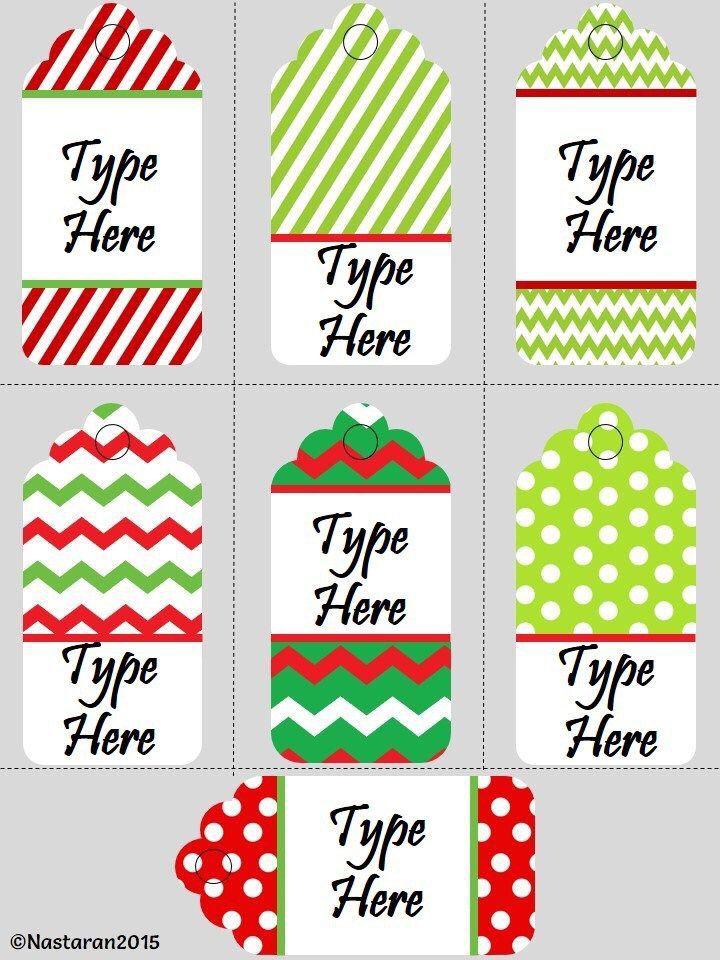 Editable Christmas Gift Tags Holiday For Teachers