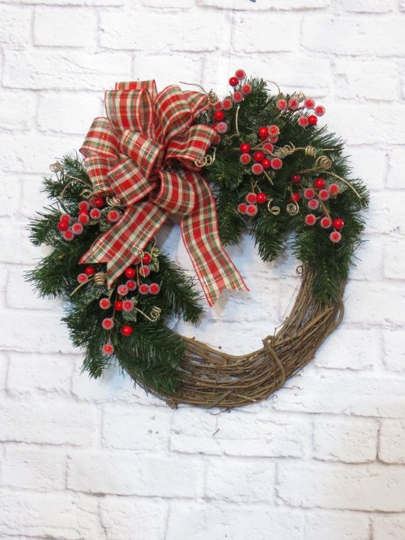 Christmas Wreath Holiday Wreath Christmas Glitter by Dazzlement