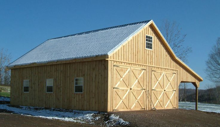 Loading image garage barn shed ideas pinterest for Prefab garages with living quarters