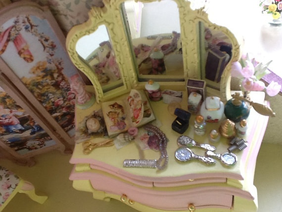 Dollhouse  miniature vintage french style shabby by bellainrosa, $60.00