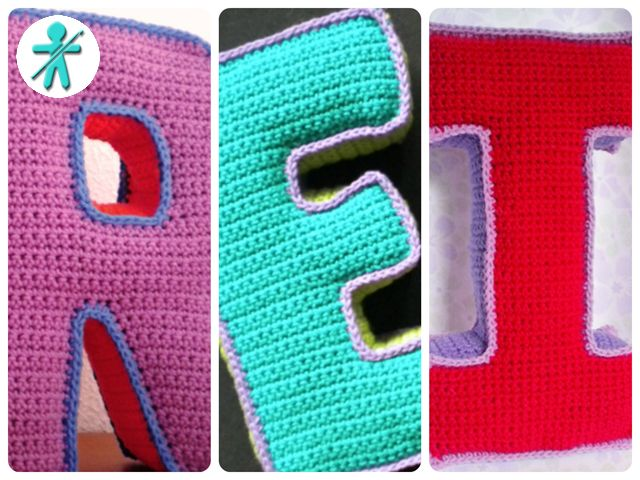 AmigurumisFanClub: Diseñando sobre plantillas de papel!!! · Así tejimos nuestras letras 3D