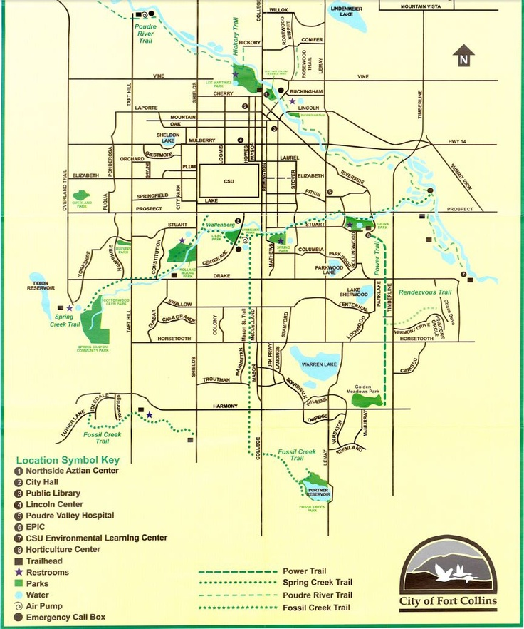 Image Result For Fort Collins Bike Map