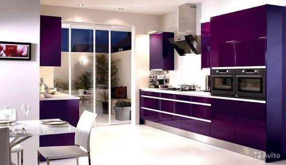 Construindo Minha Casa Clean: 13 Cozinhas Roxas Decoradas e Modernas! #cozinha #roxa: