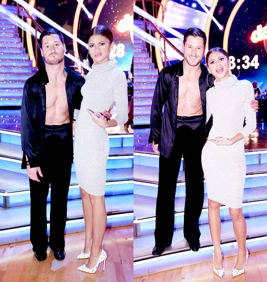 Val and Zendaya at DWTS week 10. 11/17/2014