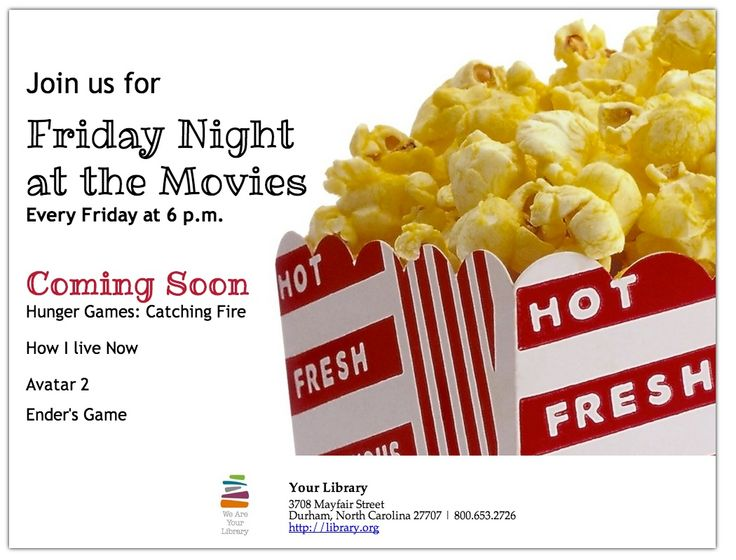 21 best images about LibraryAware – Movie Night Flyer Template