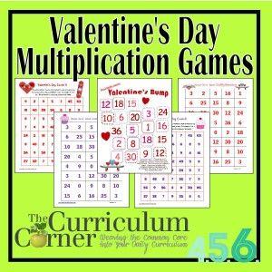 Valentines Day Multiplication Games Multiplication