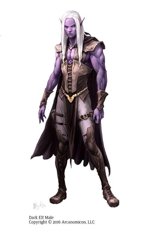 Female and Male Dark Elfs Character design for TalesofArcana Rpg