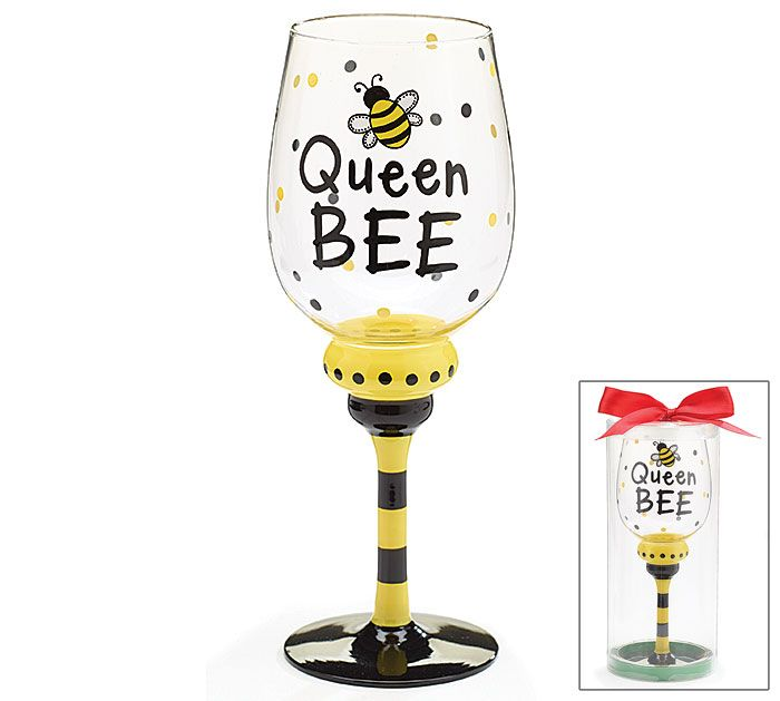 Be Queen BEE with this wine glass from #burtonandburton! #bee