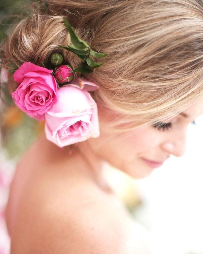 Bridal Hairstyle With Rose : The 25 best rose bun ideas on pinterest cute simple hairstyles