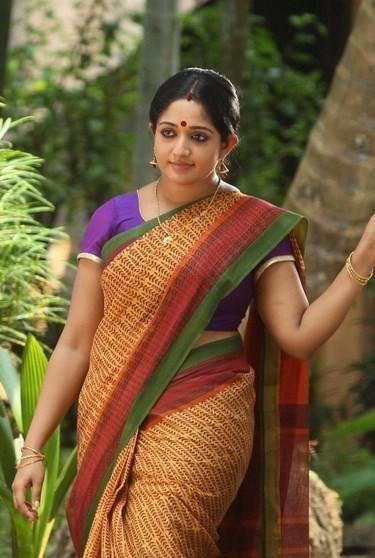 Image result for kavya madhavan in red saree in breaking news