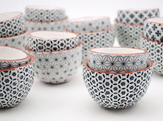 ETSY Ensemble de céramique deux bols bols de poterie par susansimonini