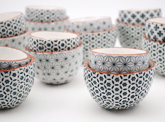Set of Two Ceramic Bowls Pottery Bowls Ceramic by susansimonini More
