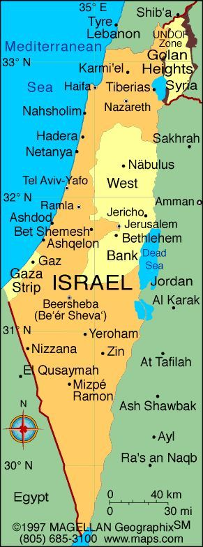 The 25 best bethlehem map ideas on pinterest google star map map of israel showing the major cities from greece to israel acre tiberias gumiabroncs Images