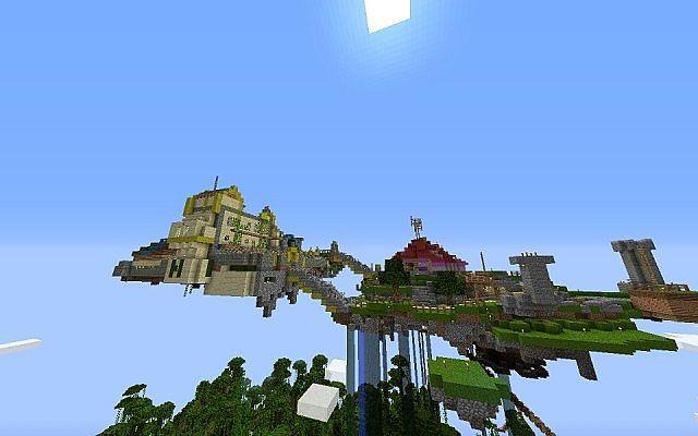 Skyloft (zelda skyward sword map) Minecraft Project | The Legend of ...