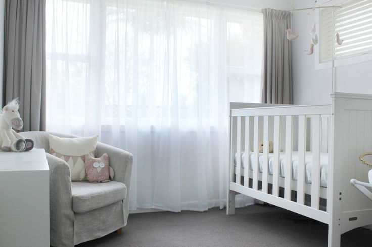 A simple white nursery can be super sophisticated!  #whitenursery #neutral
