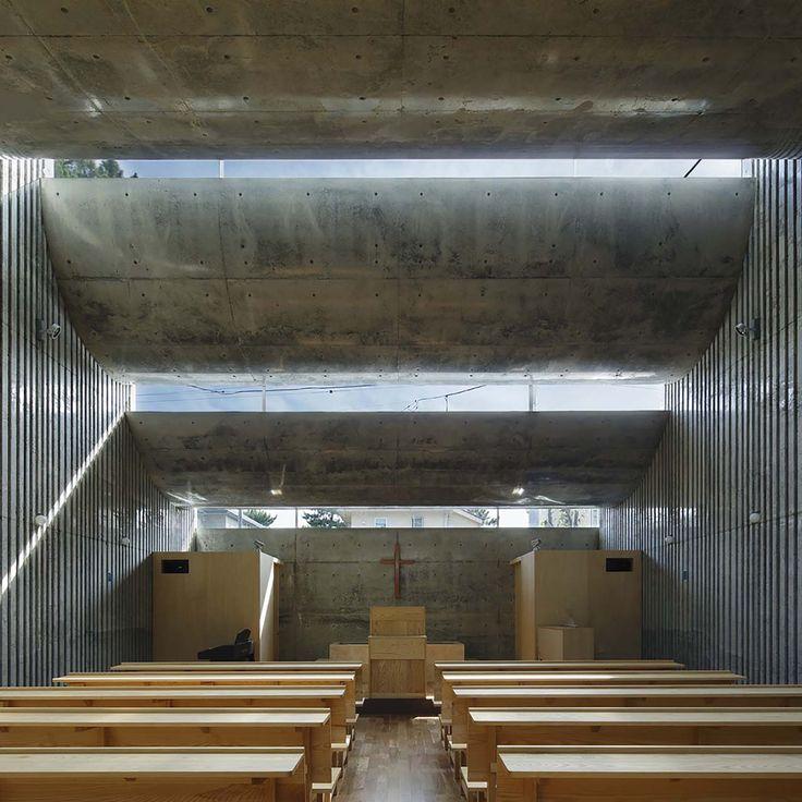 Shonan Christ Church by Takeshi Hosaka in Kanagawa, Japan. #morfae #takeshihosaka #architecture #churchdesign