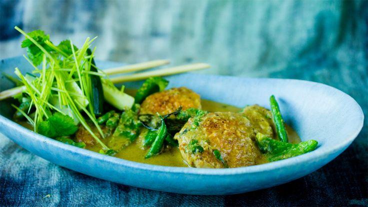 Kylling i grønn curry og kokos