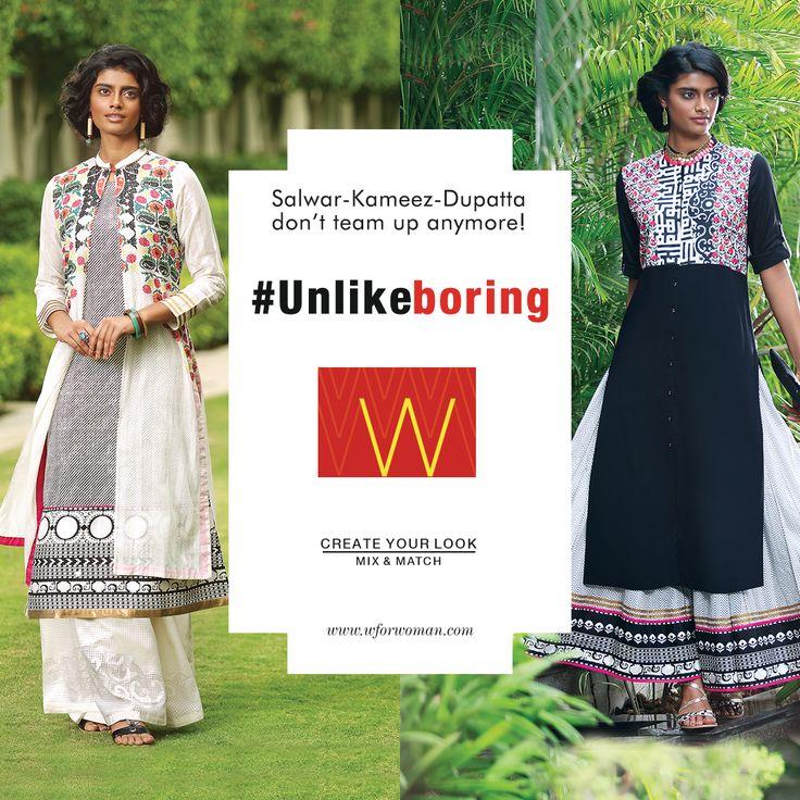 Break-up the salwar-kameez-dupatta team and keep things fresh with these #Unlikeboring looks. #WforWoman #Dupatta #shopping #kurta