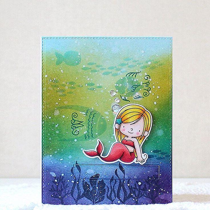 The @mftstamps May release is LIVE!!! #mftstamps #mftdienamics #mft #papercraft #cardmaking #stamping #handmade #card #diy #mermaid #mermazing #watercolor #seacreatures #inkblending #수제카드 #수채화 #스탬핑 #copicmarkers #핸드메이드 #카드 #release