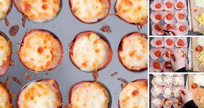 Bezlepkové a nízko sacharidové pizza muffinky