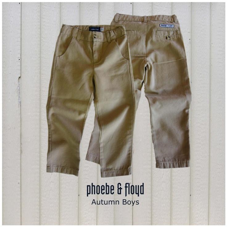Phoebe & Floyd Khaki Narrow Leg Canvas Chino (www.phoebeandfloyd.co.za) #Phoebeandfloyd #Kidsclothing
