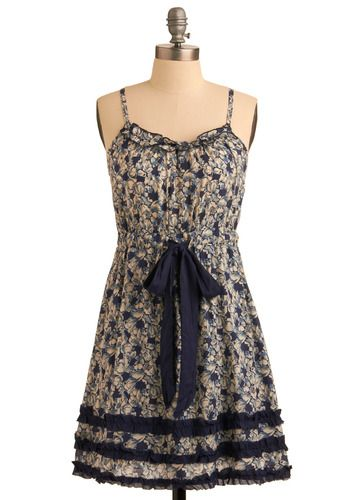 An early birthday present from my Mom! Thanks, @ModCloth!: Summer Dresses, Style, Modcloth, Blue Grotto, Grotto Dress, Dress Blues