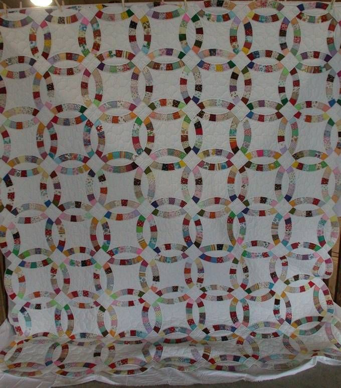 Elegant wedding ring quilt pattern Quilts Show