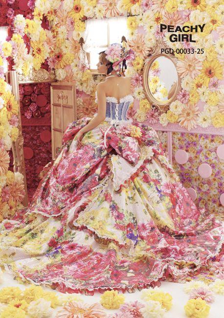 C7F-553|PEACHY GIRL|ブランド|オシャレでこだわり、個性的なウェディングドレス、カラードレス、タキシードレンタルならドレスショップブランシェ