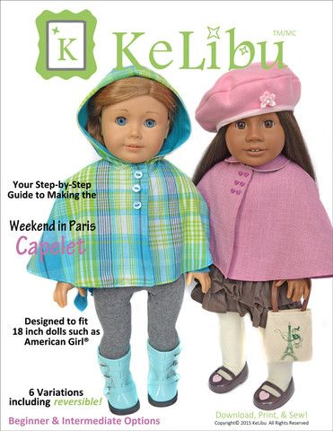 "Weekend in Paris Capelet 18"" Doll Clothes"