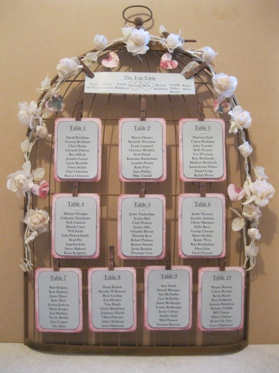 Birdcage table plan