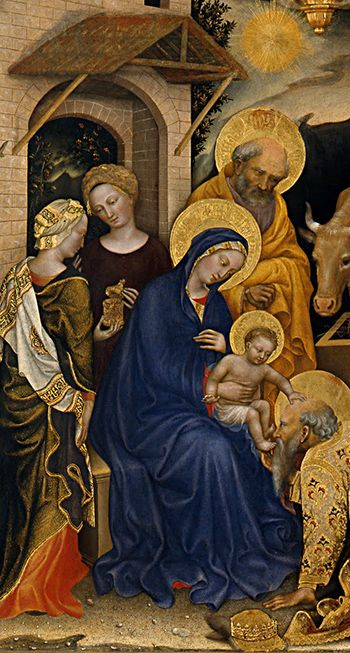 Gentile da Fabriano, Adoration of the Magi, 1423 Gallery, Florence)