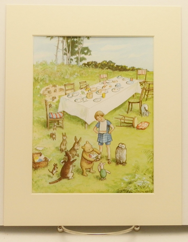 17 best images about winnie the pooh party on pinterest for Classic winnie the pooh wall mural