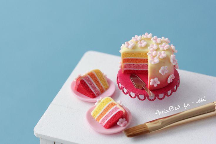 Miniature Sunset Cake - petitplate