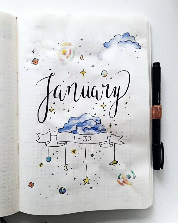 47 Out of this world galaxy and space themed bullet journal spreads
