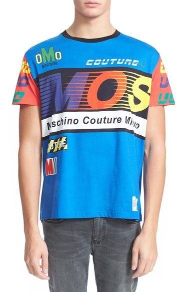 Moschino 'MOS Racing' T-Shirt available at #Nordstrom #moschino #tshirt #fashion #menswear