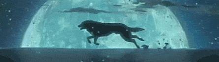 Running wolf (Wolf's Rain) - wolves Photo