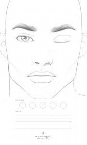 male makeup face chart - Google Search