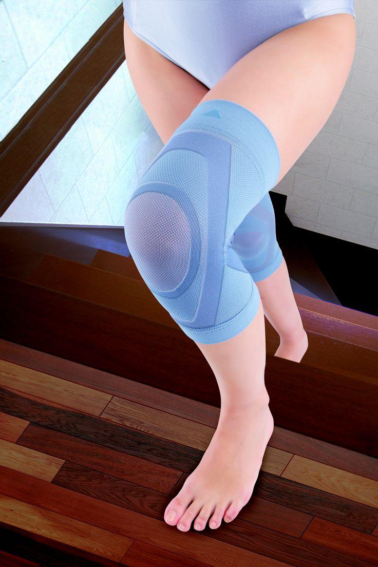 サンスマイル  膝楽いきいきサポーター わずか1mmの薄さなのに膝をガッチリサポート!グッと踏ん張れてつら〜い階段も楽々!