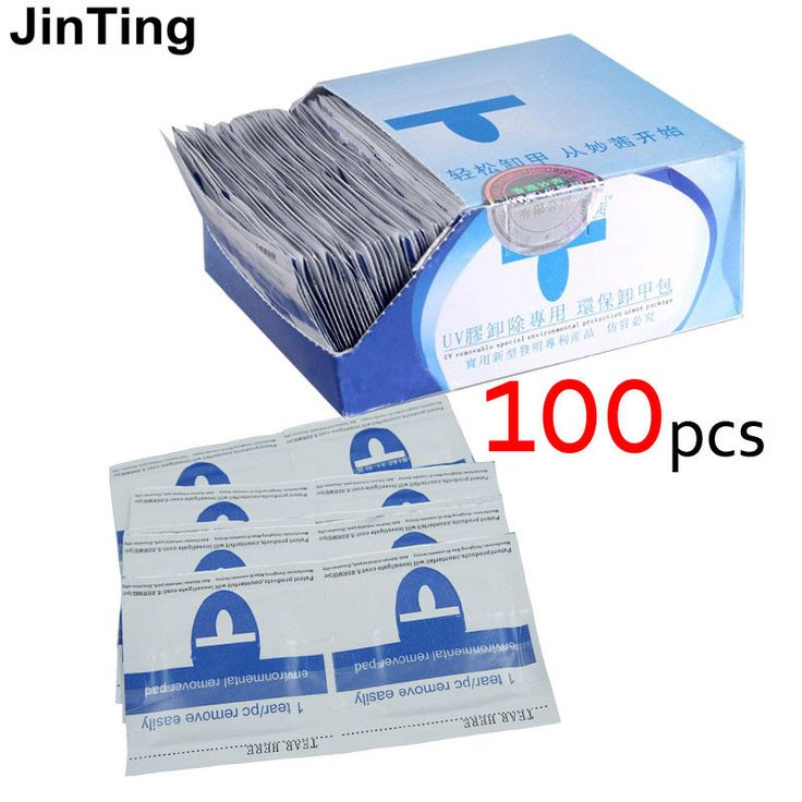 2017 nail polish remover 100Pcs/lot Nail Art gel polish Lacquer Easy cleaner gel nail Wraps UV Gel Remover Nails Care tools