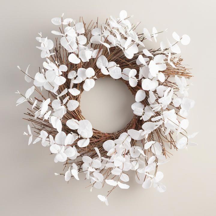 White Eucalyptus Wreath