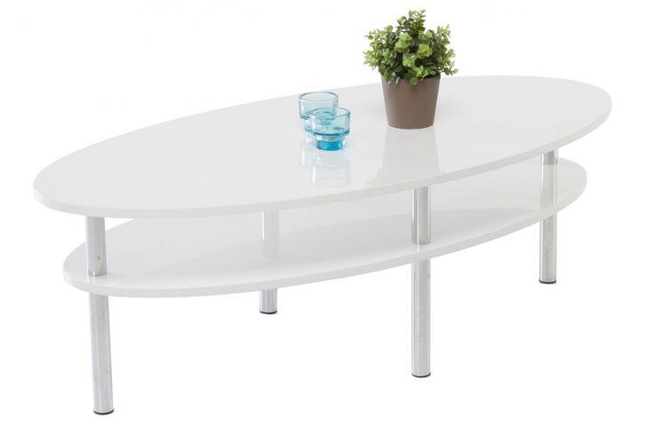 TUSLA Soffbord Vit Högblank - Soffbord - Bord - Inomhus