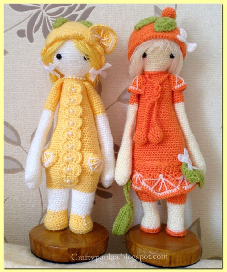 Lucy Lemon...meets Clementine Hand made and modified by craftypaulaa. Lalylala patterns by Lydia Tresselt.